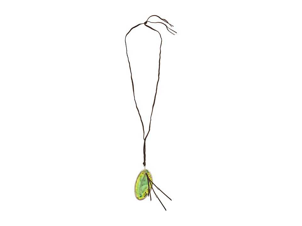 Chan Luu - 36' Green Agate Charm Necklace (Green Agate) Necklace