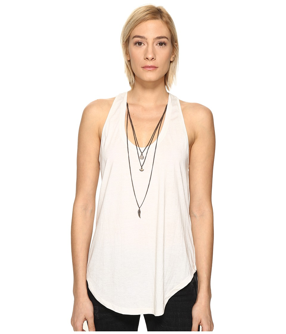 The Kooples - Mix Cotton Charms Tank Top (Ecru) Women's Sleeveless