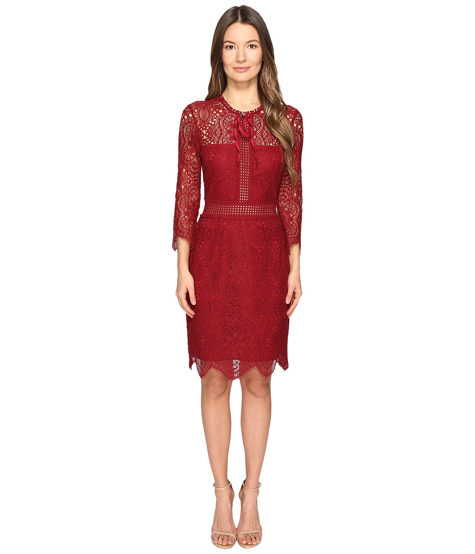 The Kooples - Mix Openwork Lace (Red) Women's Clothing