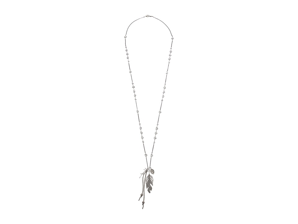 Chan Luu - 34' Labradorite Necklace with Layering Leaf Charm (Labradorite) Necklace