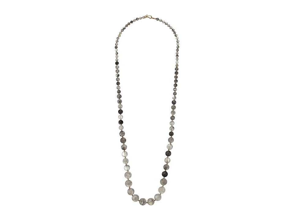 Chan Luu - 36' Grey Cloud Quarty Semi Precious Stone Necklace (Grey Cloudy Quartz) Necklace