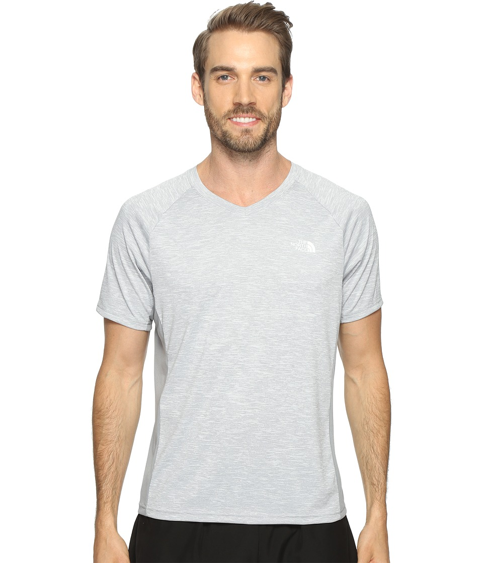 The North Face - Ambition V-Neck (TNF Light Grey Heather/Mid Grey (Prior Season)) Men's T Shirt