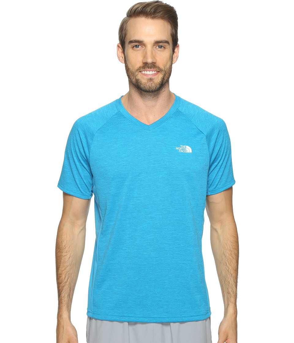 The North Face - Ambition V-Neck (Hyper Blue Heather/Hyper Blue (Prior Season)) Men's T Shirt