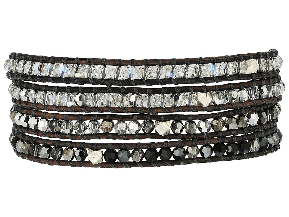 Chan Luu - 32' Swarovski Black Mix Crystal Wrap Bracelet (Black Mix/Natural Grey) Bracelet