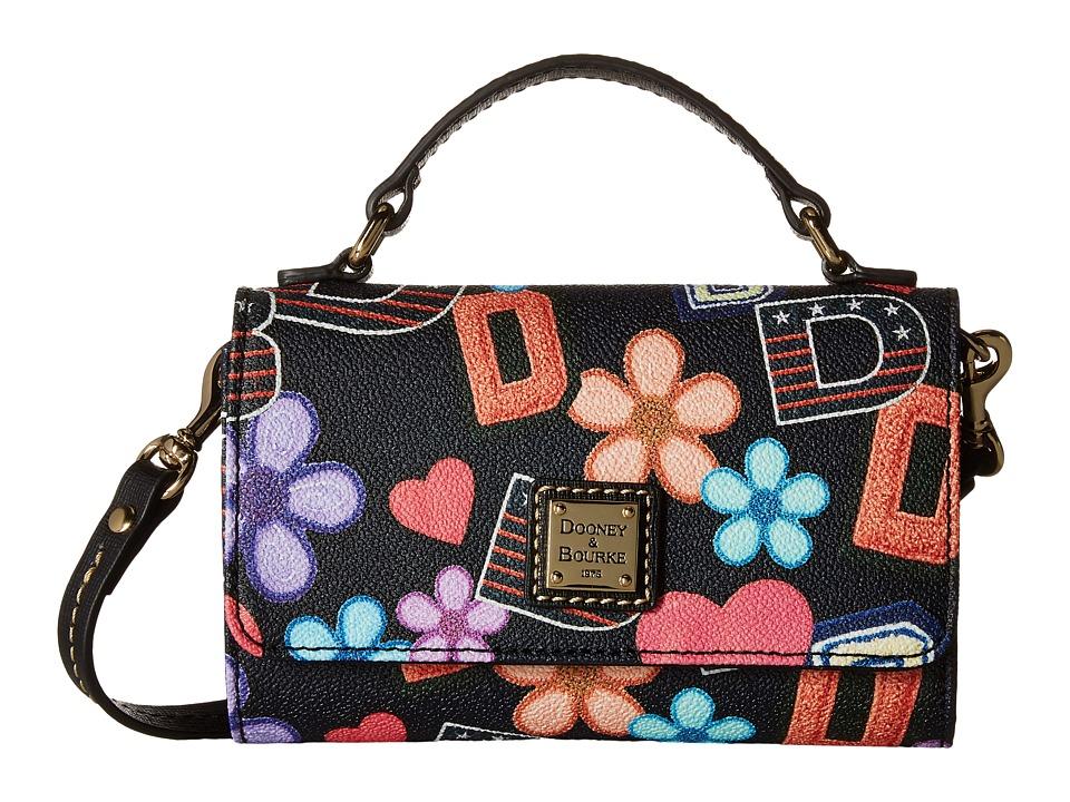 Dooney & Bourke - Small Mimi Crossbody Varsity (Black/Black Trim) Cross Body Handbags