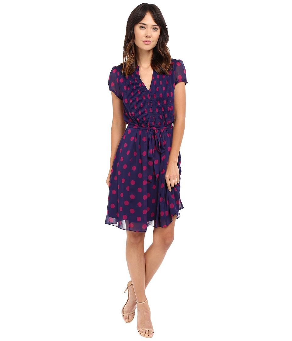 Christin Michaels - Liaden Shirtdress (Navy/Berry) Women's Dress