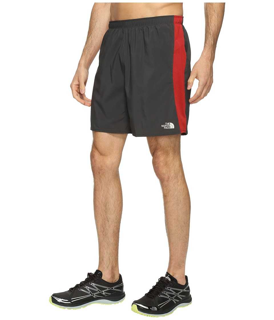 The North Face - NSR Shorts 7 (Ashpalt Grey/Cardinal Red (Prior Season)) Men's Shorts