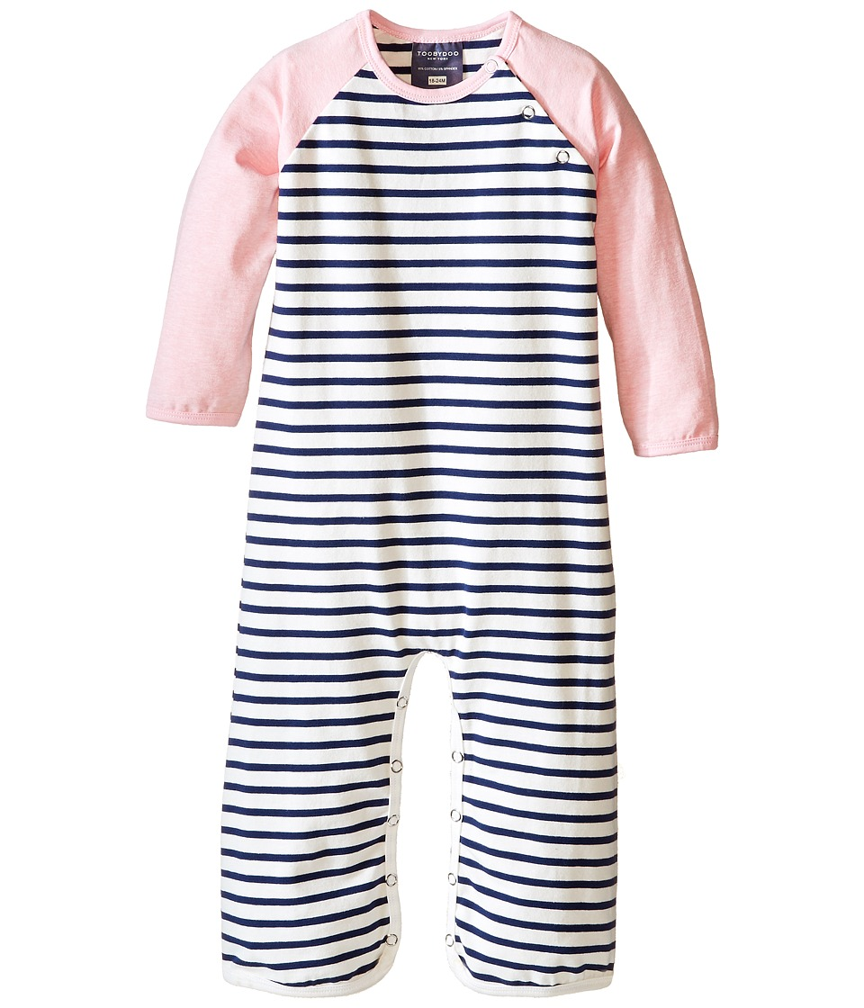 Toobydoo - Audrey Bootcut Jumpsuit (Infant) (Light Pink/Navy/White) Girl's Jumpsuit & Rompers One Piece