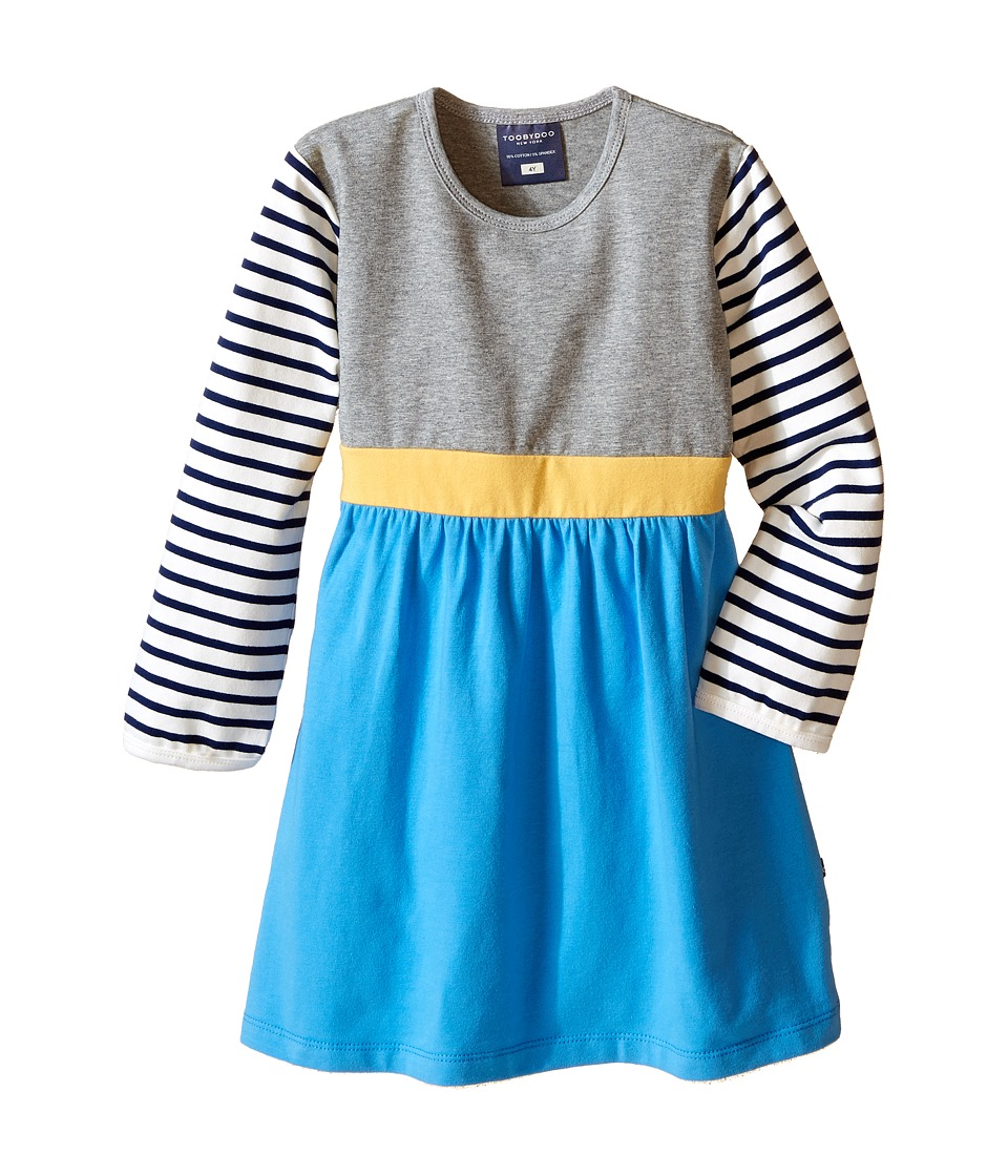 Toobydoo - Keira Play Dress (Infant/Toddler/Little Kids) (Navy/White/Blue/Yellow Belt) Girl's Dress