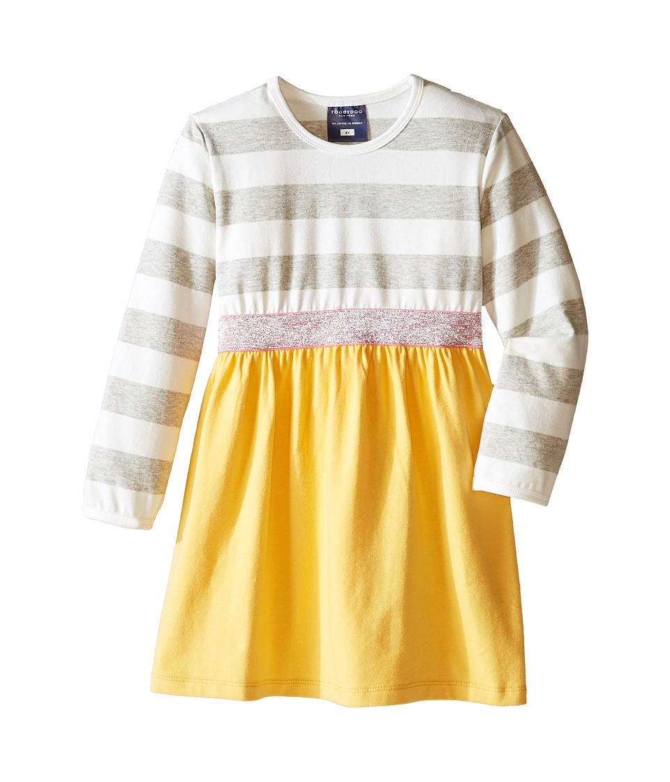 Toobydoo - Sunny Sparkle Play Dress (Infant/Toddler/Little Kids) (Grey/White/Yellow/Pink) Girl's Dress
