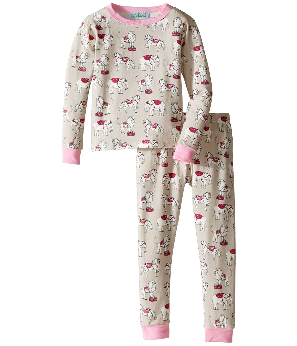 BedHead Kids - Long Sleeve Long Pants Set (Toddler/Little Kids) (Stone Three Ring Circus) Girl's Pajama Sets