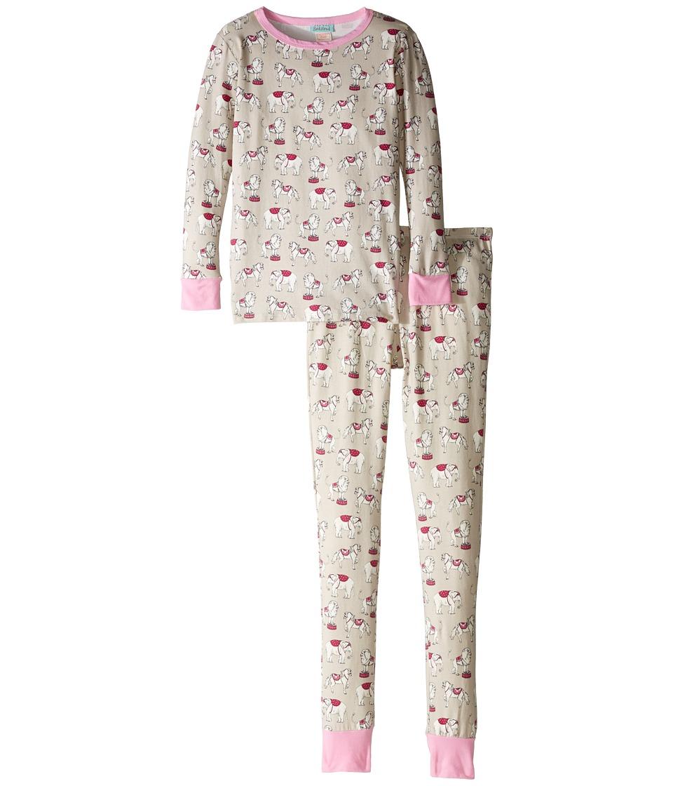BedHead Kids - Long Sleeve Long Pants Tweens Set (Big Kids) (Stone Three Ring Circus) Girl's Pajama Sets