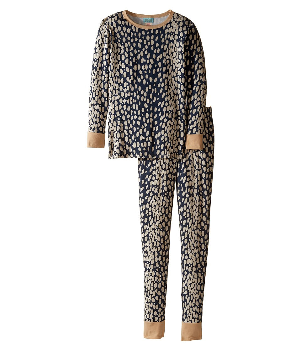 BedHead Kids - Long Sleeve Long Pants Tweens Set (Big Kids) (Charcoal Lynx) Girl's Pajama Sets