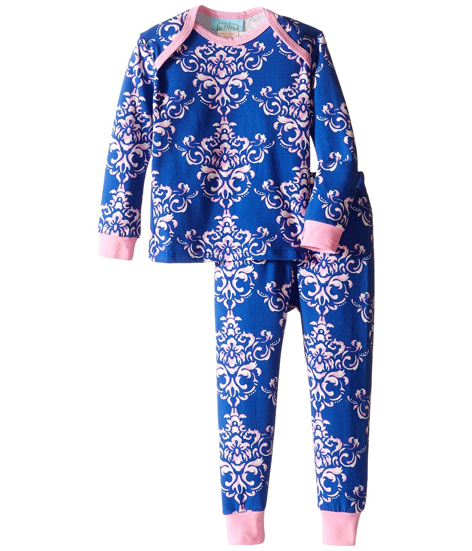 BedHead Kids - Long Sleeve Long Pants Set (Infant) (Navy Painted Damask) Girl's Pajama Sets