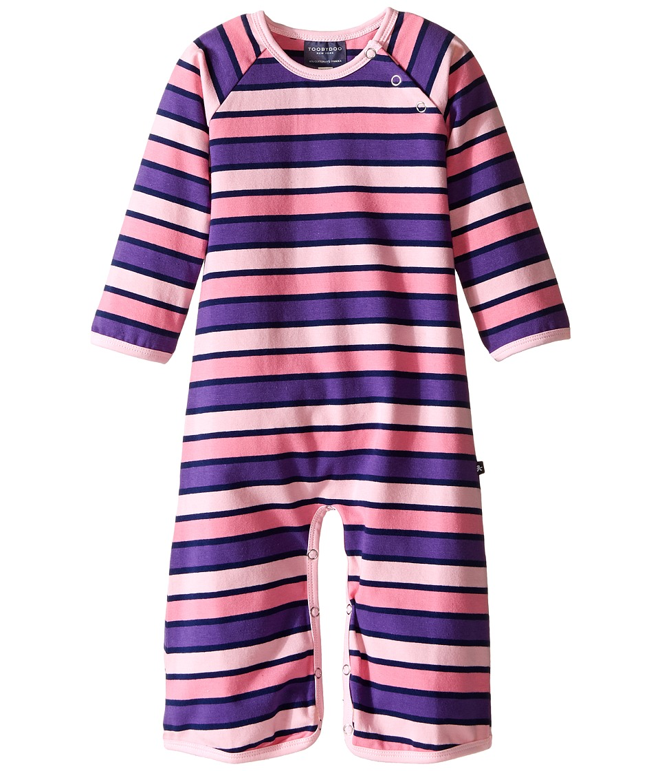 Toobydoo - Harper Bootcut Jumpsuit (Infant) (Purple/Pink/Navy) Girl's Jumpsuit & Rompers One Piece
