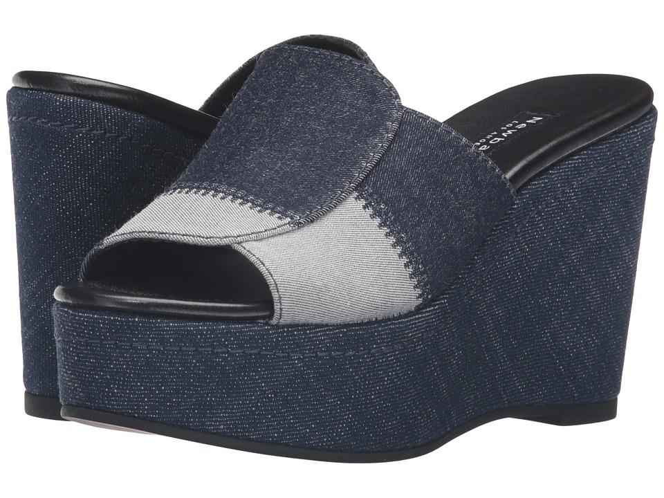 NewbarK - Louisa Wedge (Denim) Women's Shoes