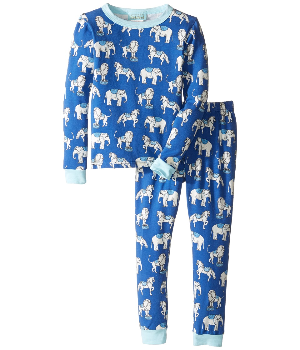 BedHead Kids - Long Sleeve Long Pants Set (Toddler/Little Kids) (Navy Three Ring Circus) Boy's Pajama Sets