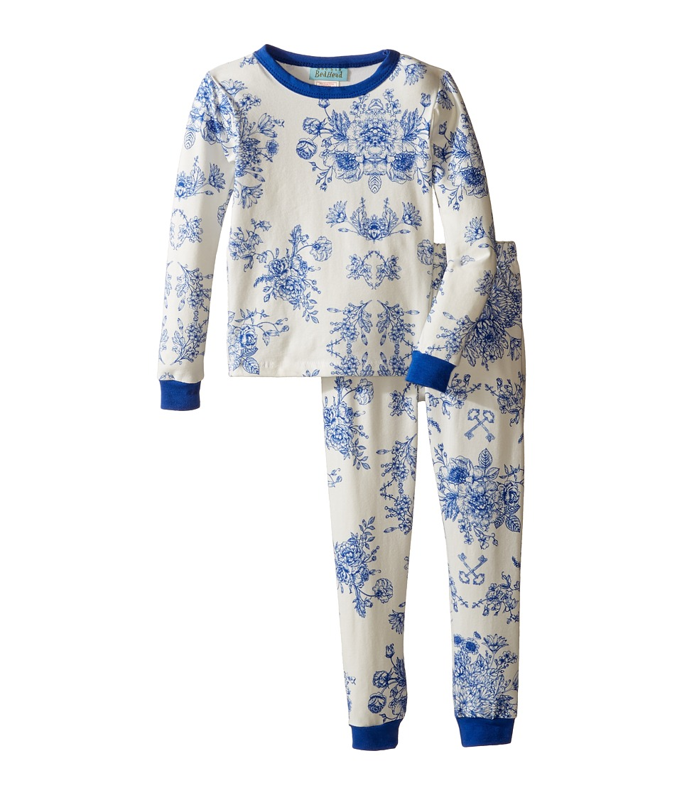 BedHead Kids - Long Sleeve Long Pants Set (Toddler/Little Kids) (Mystery Garden) Boy's Pajama Sets