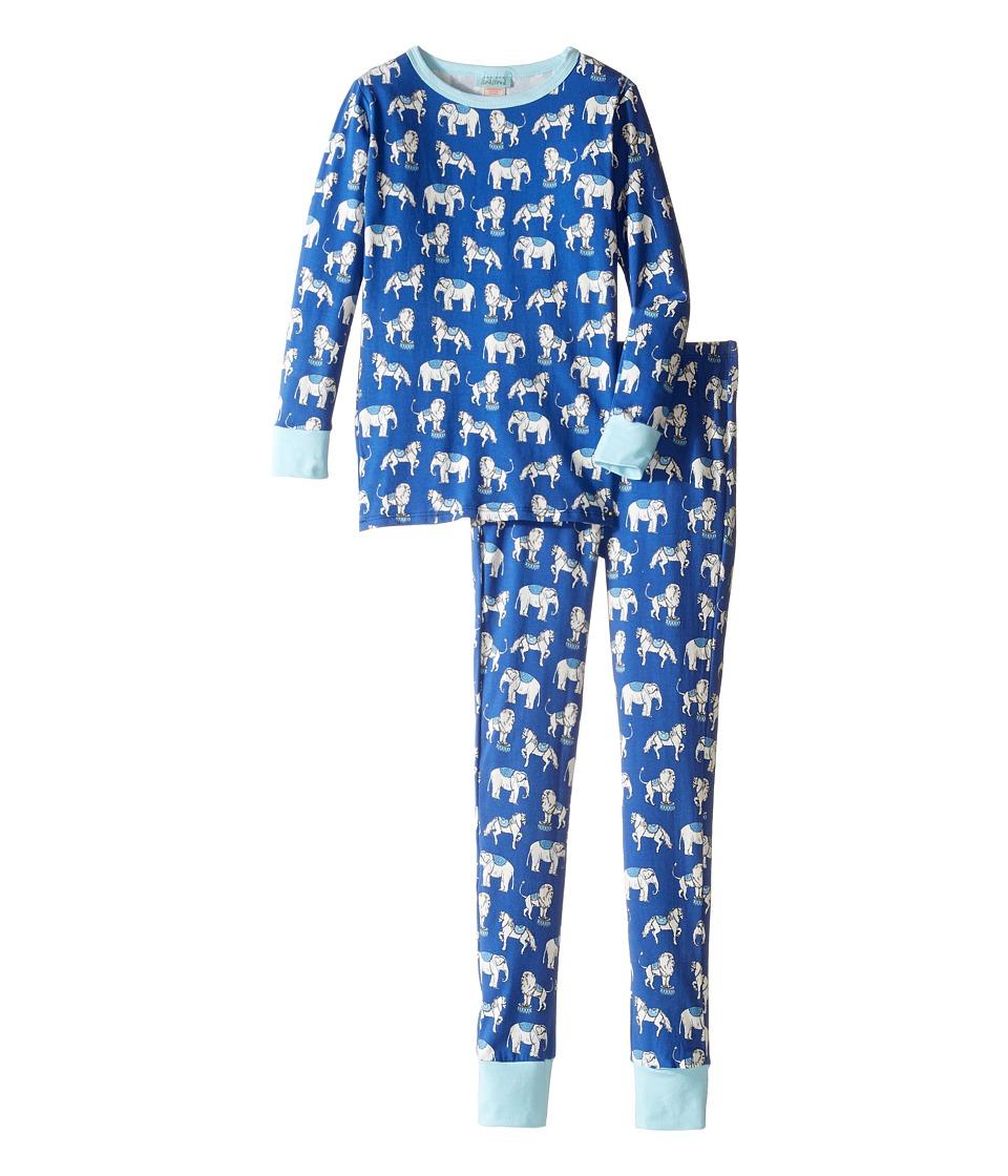 BedHead Kids - Long Sleeve Long Pants Tweens Set (Big Kids) (Navy Three Ring Circus) Boy's Pajama Sets