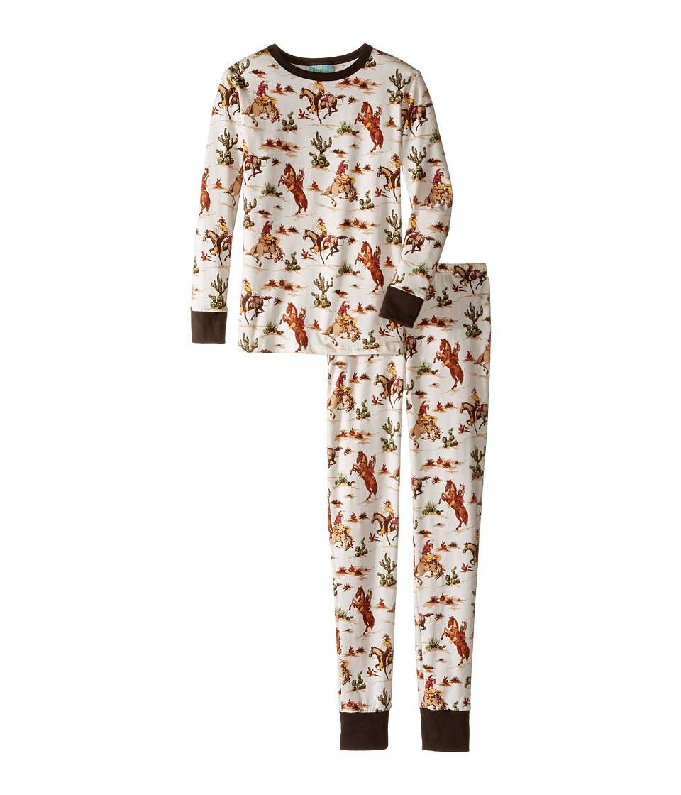 BedHead Kids - Long Sleeve Long Pants Tweens Set (Big Kids) (Hi Ho Silver) Boy's Pajama Sets