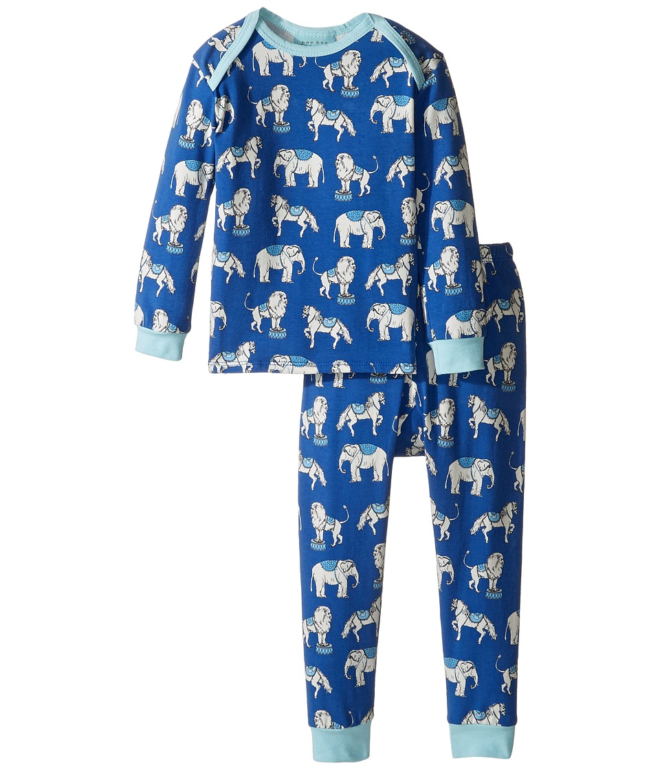 BedHead Kids - Long Sleeve Long Pants Set (Infant) (Navy Three Ring Circus) Boy's Pajama Sets