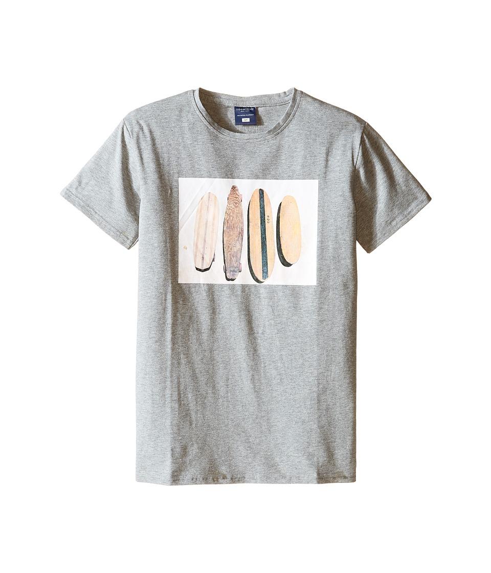 Toobydoo - Malibu Surfer Tee (Infant/Toddler/Little Kids/Big Kids) (Grey Surf Tee) Boy's T Shirt