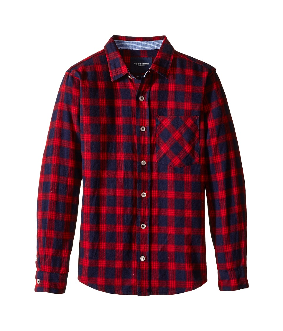 Toobydoo - Lumberjack Red Flannel Shirt (Infant/Toddler/Little Kids/Big Kids) (Red/Navy) Boy's Clothing