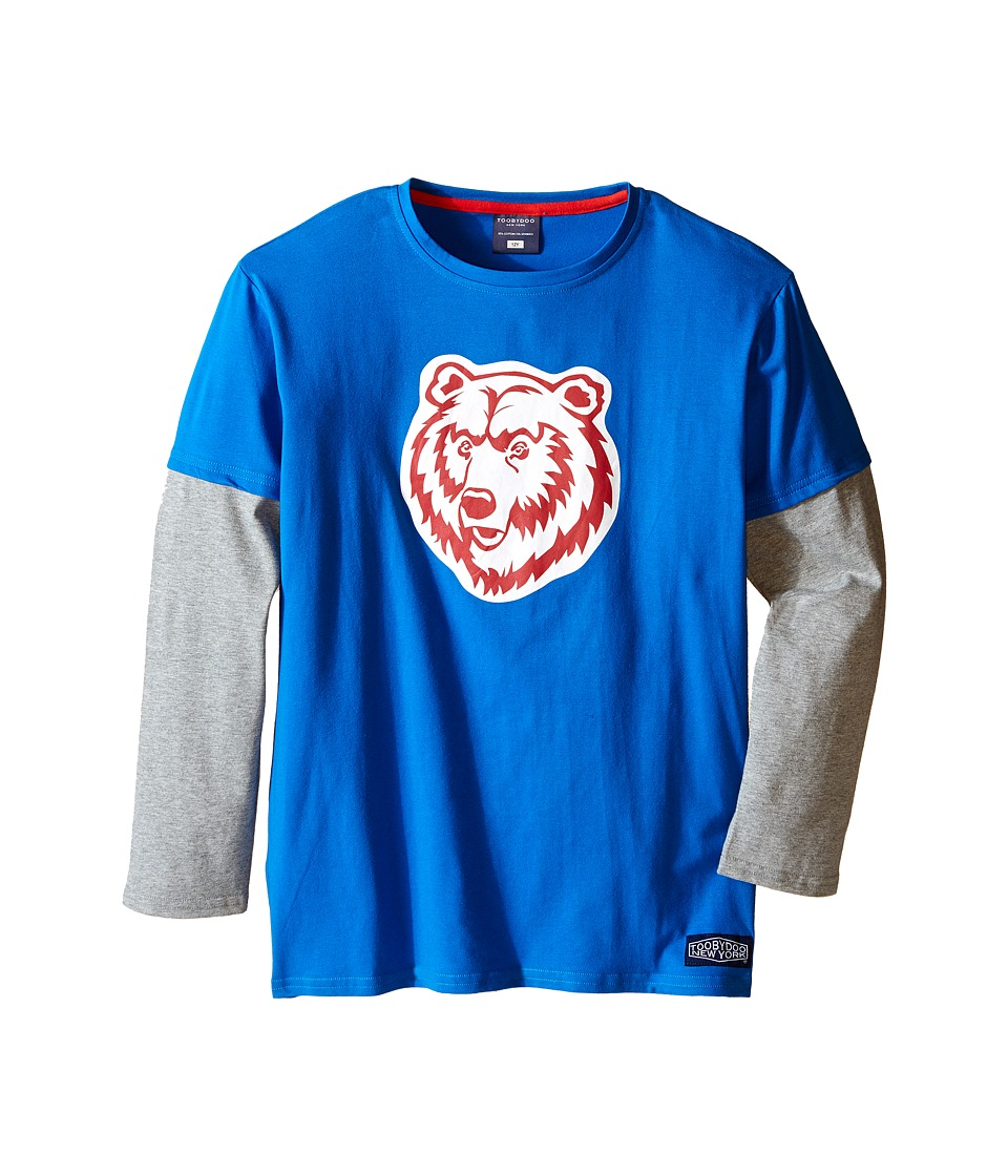 Toobydoo - Wild Bunch Grizzly Tee (Infant/Toddler/Little Kids/Big Kids) (Blue/Grey/Red Bear Graphic) Boy's T Shirt