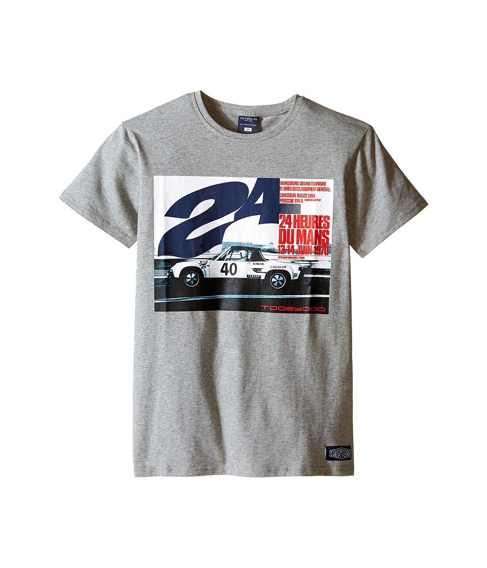 Toobydoo - The Big Race Tee (Infant/Toddler/Little Kids/Big Kids) (Grey/Racecar Graphic) Boy's T Shirt