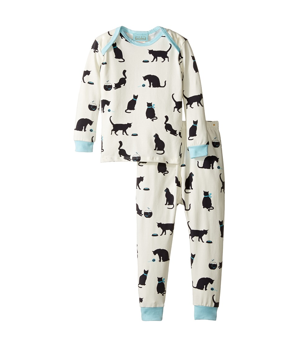 BedHead Kids - Long Sleeve Long Pants Set (Infant) (Tiffany's Cat) Girl's Pajama Sets