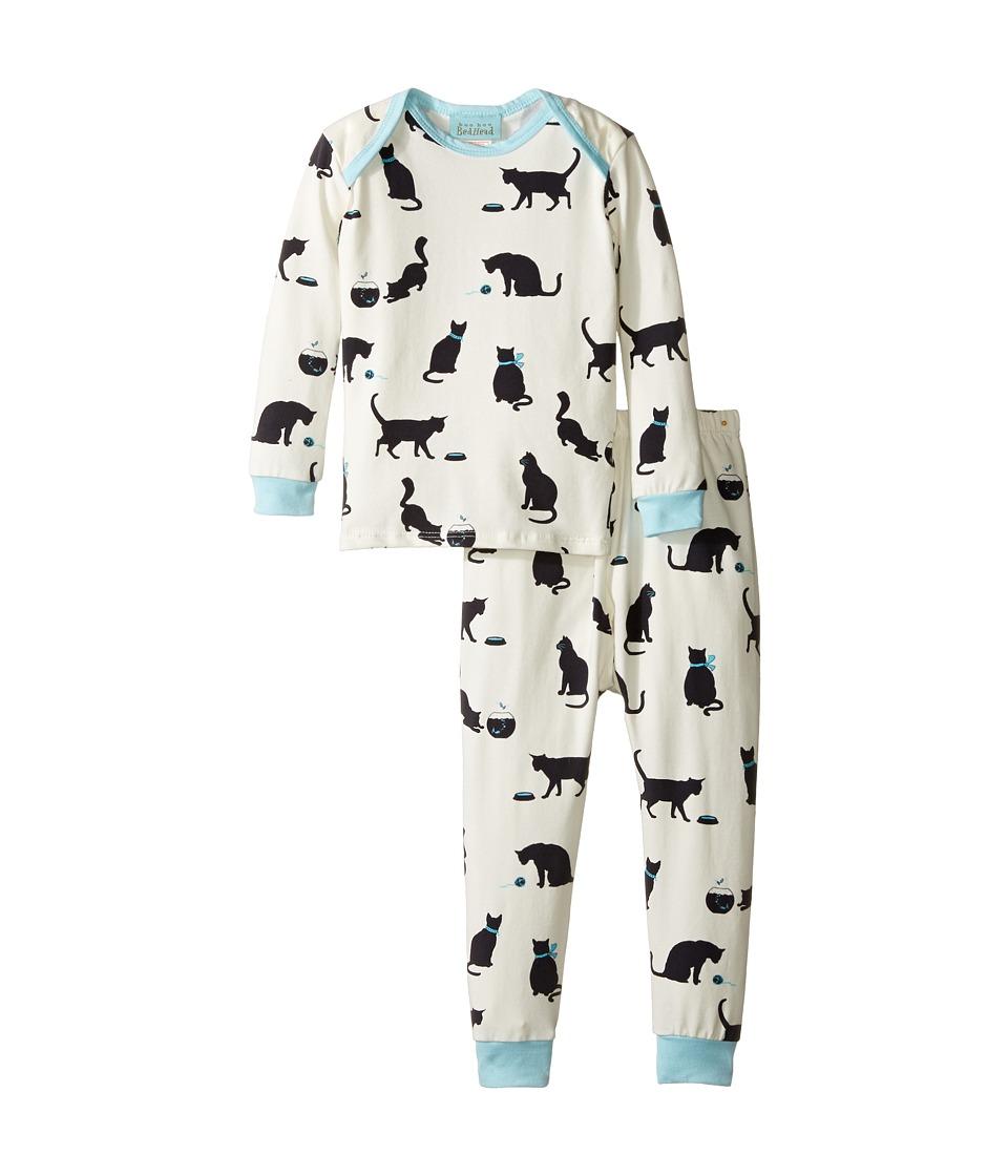 BedHead Kids - Long Sleeve Long Pants Set (Infant) (Tiffany's Cat) Girl's Pajama Sets