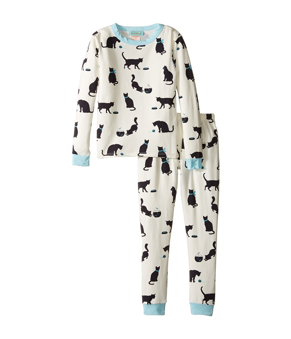 BedHead Kids - Long Sleeve Long Pants Set (Toddler/Little Kids) (Tiffany's Cat) Girl's Pajama Sets
