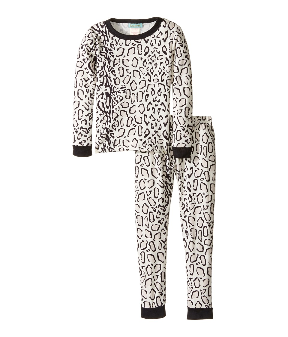 BedHead Kids - Long Sleeve Long Pants Set (Toddler/Little Kids) (Ivory/Gray Mighty Jungle) Girl's Pajama Sets