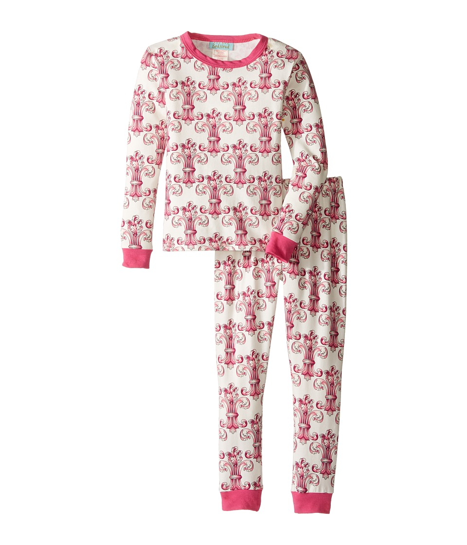 BedHead Kids - Long Sleeve Long Pants Set (Toddler/Little Kids) (Ivory Regal Fleur) Girl's Pajama Sets