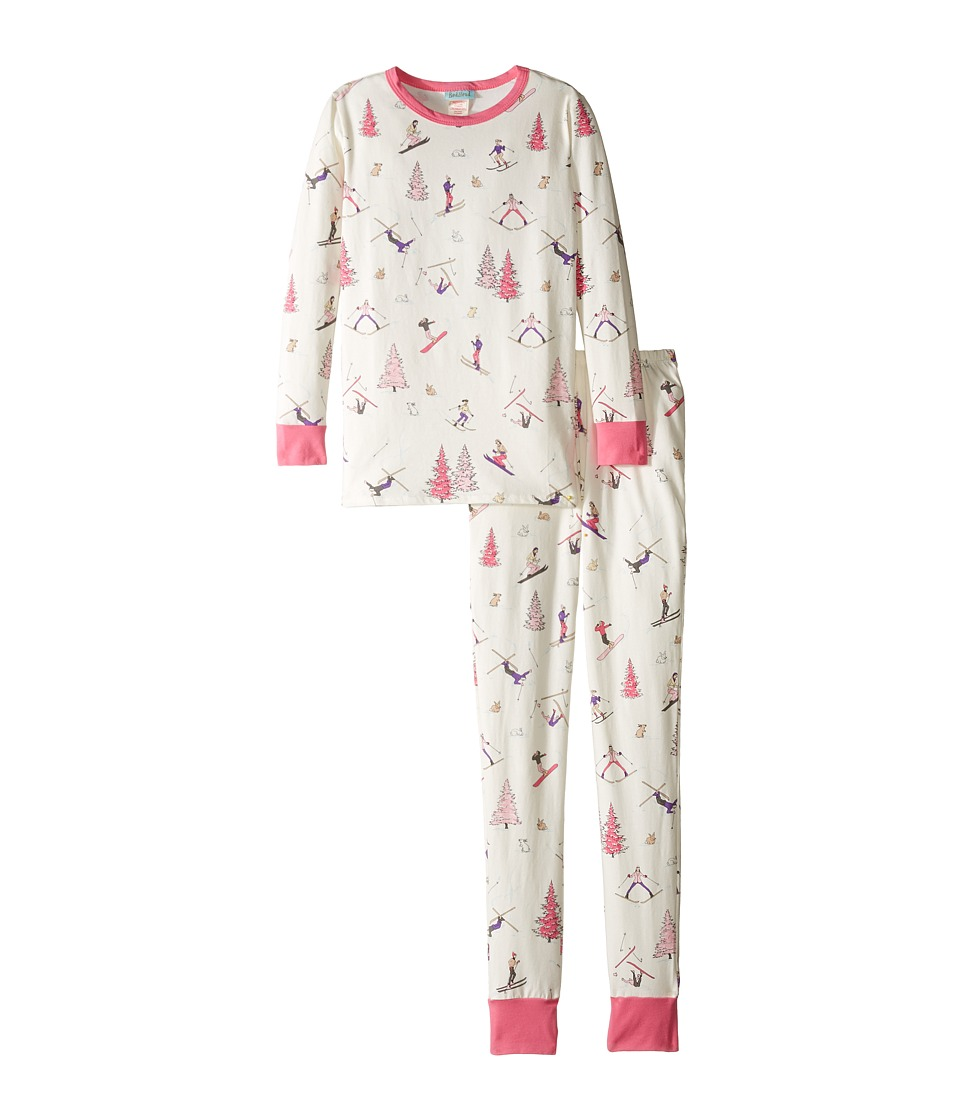 BedHead Kids - Long Sleeve Long Pants Tweens Set (Big Kids) (Pink Ski Bunnies) Girl's Pajama Sets