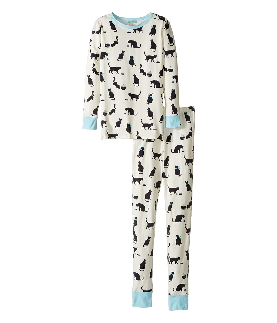 BedHead Kids - Long Sleeve Long Pants Tweens Set (Big Kids) (Tiffany's Cat) Girl's Pajama Sets