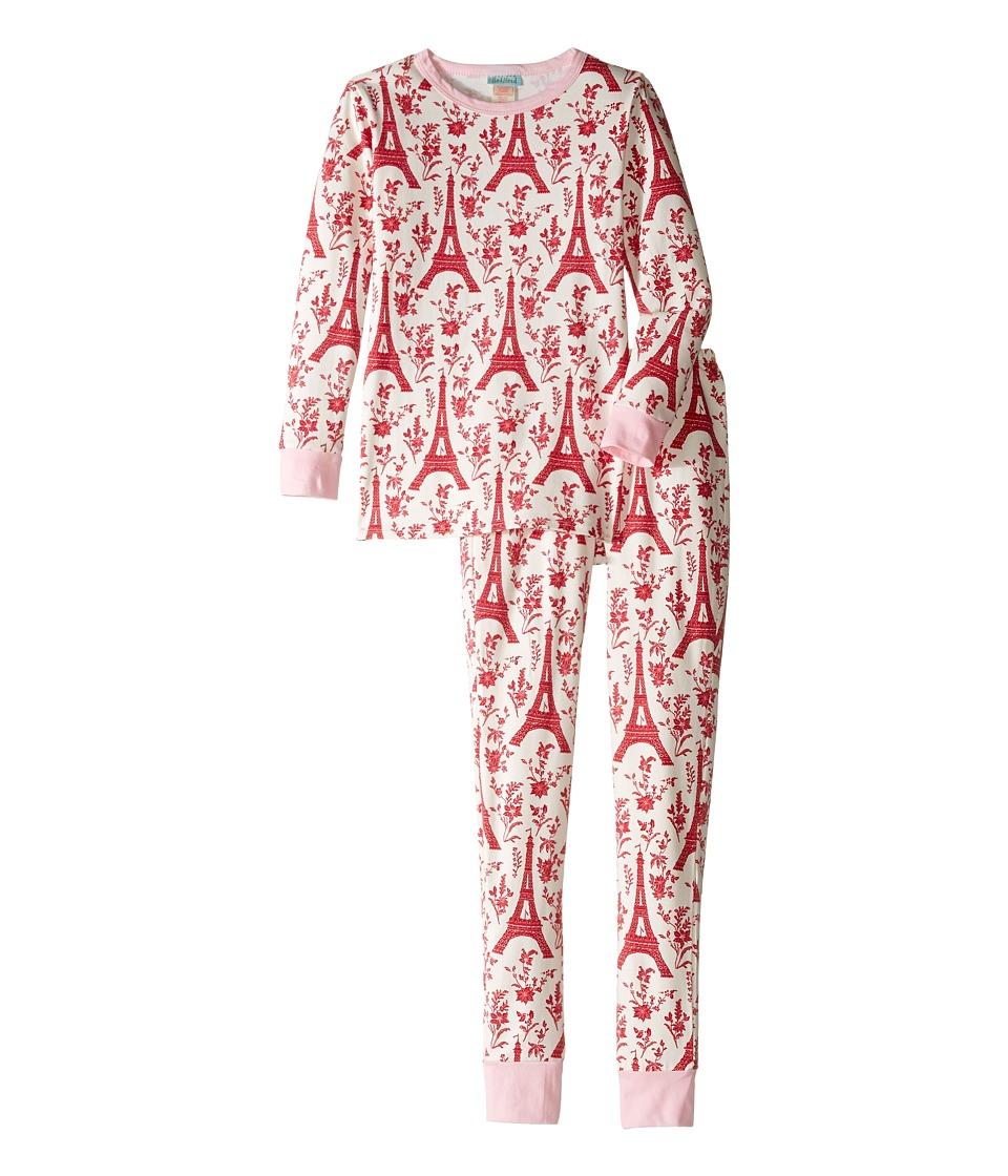 BedHead Kids - Long Sleeve Long Pants Tweens Set (Big Kids) (Poinsettia Eiffel) Girl's Pajama Sets