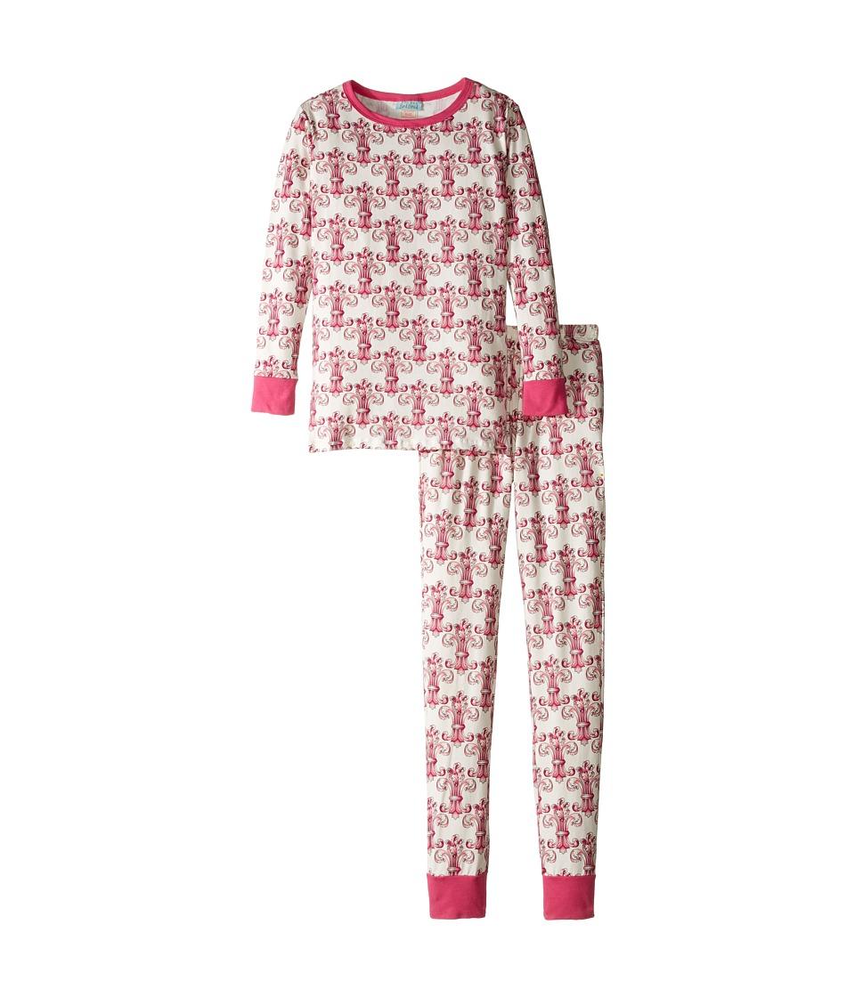 BedHead Kids - Long Sleeve Long Pants Tweens Set (Big Kids) (Ivory Regal Fleur) Girl's Pajama Sets