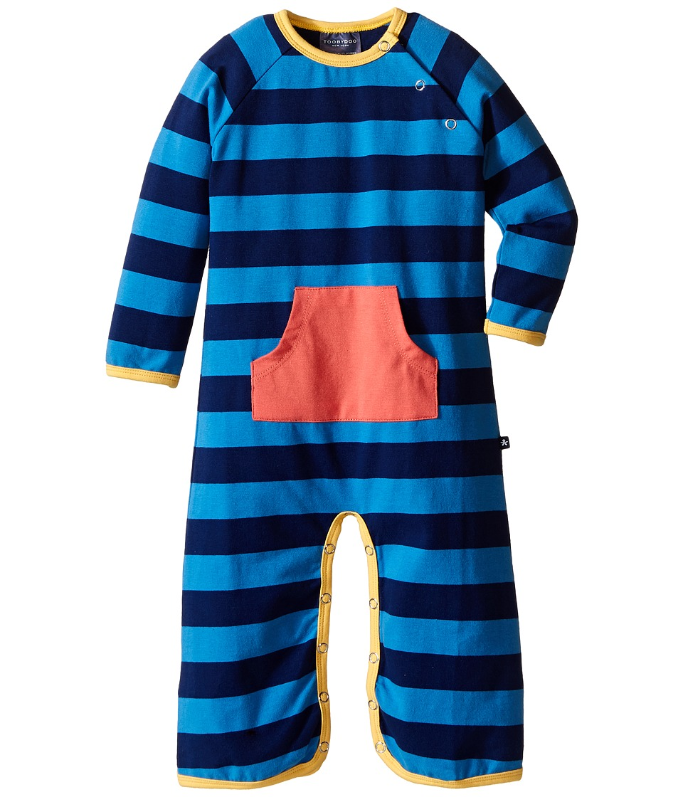 Toobydoo - Brody Bootcut Jumpsuit (Infant) (Yellow/Blue/Navy/Orange Pocket) Boy's Jumpsuit & Rompers One Piece