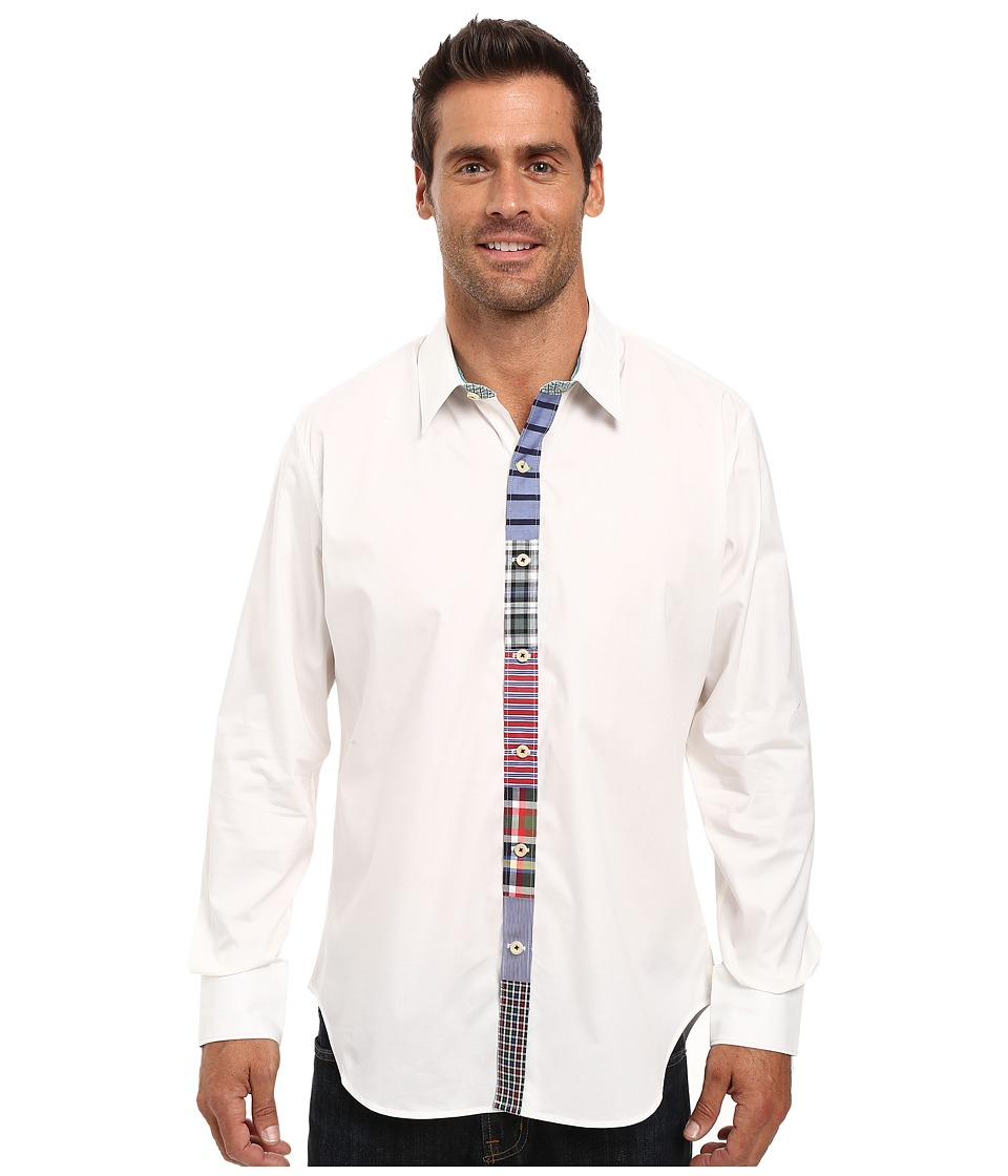 Robert Graham - Dwellings Long Sleeve Woven Shirt (White) Men's Clothing