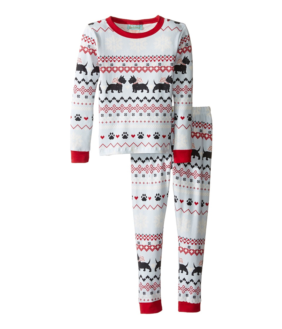 BedHead Kids - Long Sleeve Long Pants Set (Toddler/Little Kids) (Scottie Fair Isle) Boy's Pajama Sets