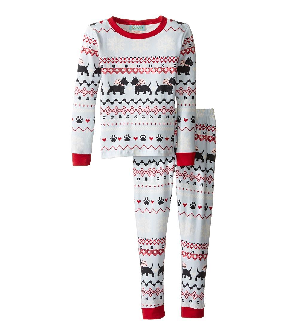 BedHead Kids - Long Sleeve Long Pants Set (Toddler/Little Kids) (Scottie Fair Isle) Boy's Pajama Sets