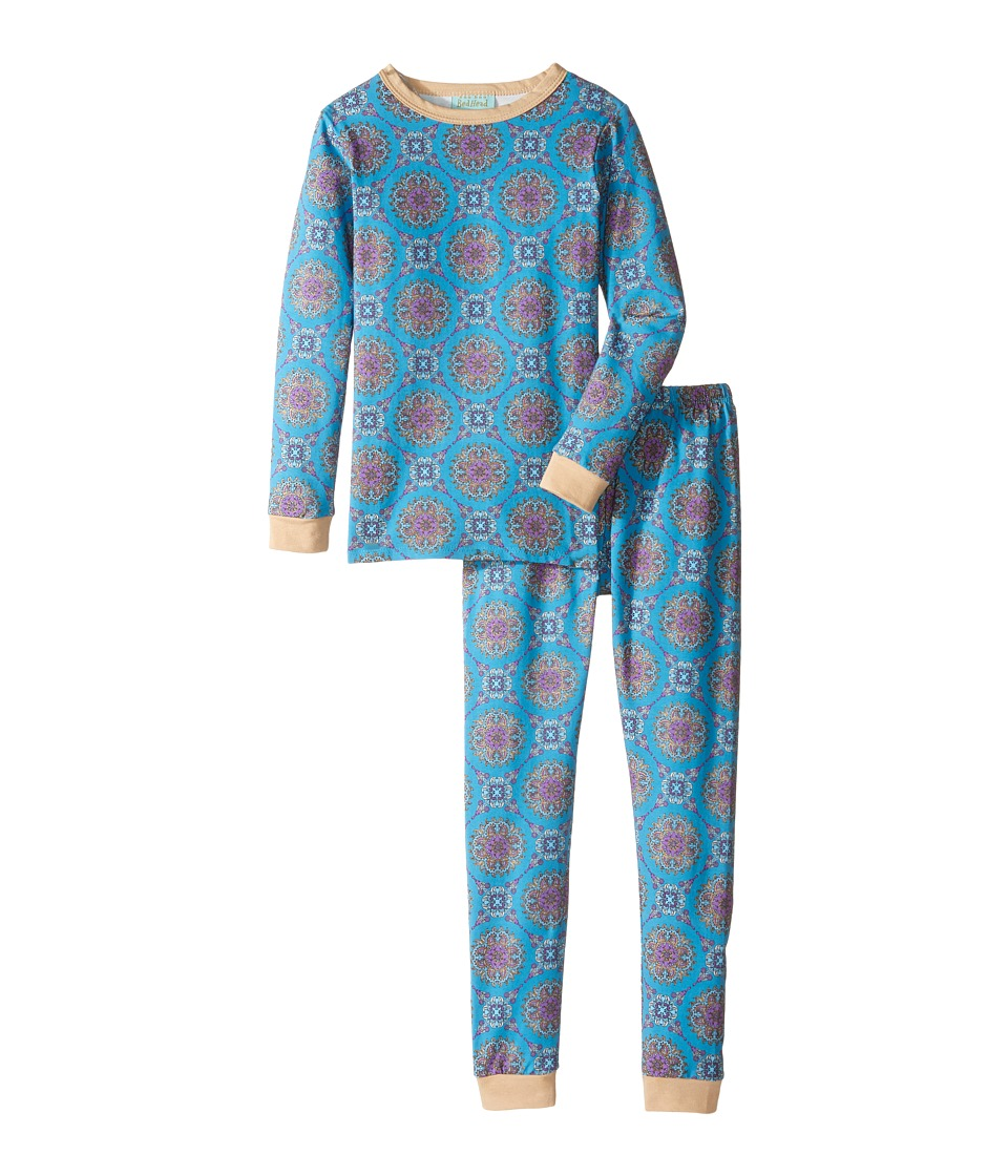 BedHead Kids - Long Sleeve Long Pants Set (Toddler/Little Kids) (Blue Road to Morocco) Boy's Pajama Sets
