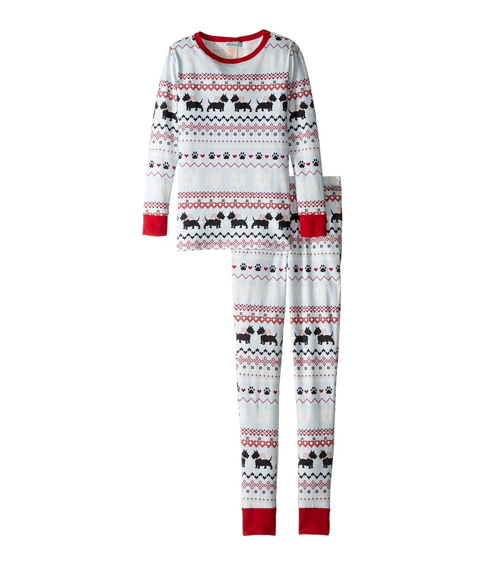 BedHead Kids - Long Sleeve Long Pants Tweens Set (Big Kids) (Scottie Fair Isle) Boy's Pajama Sets