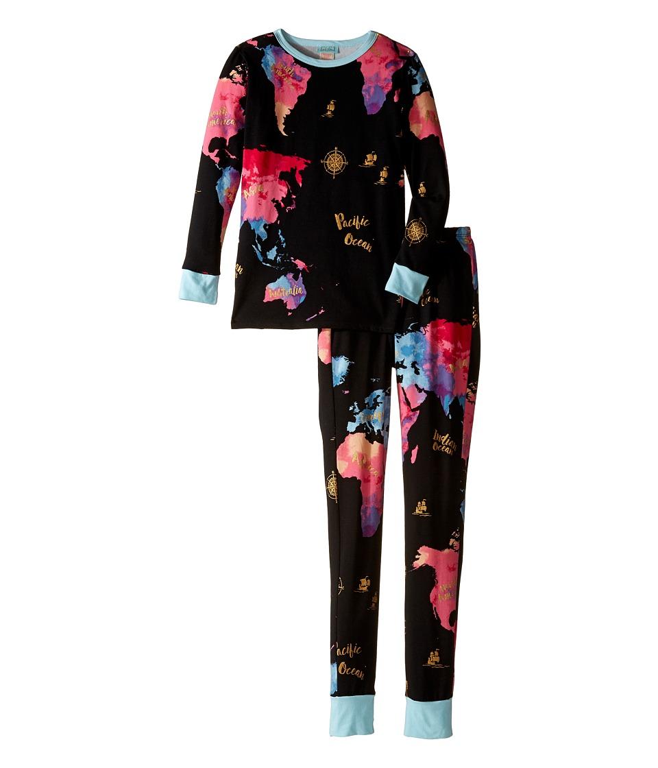 BedHead Kids - Long Sleeve Long Pants Tweens Set (Big Kids) (Bon Voyage) Boy's Pajama Sets