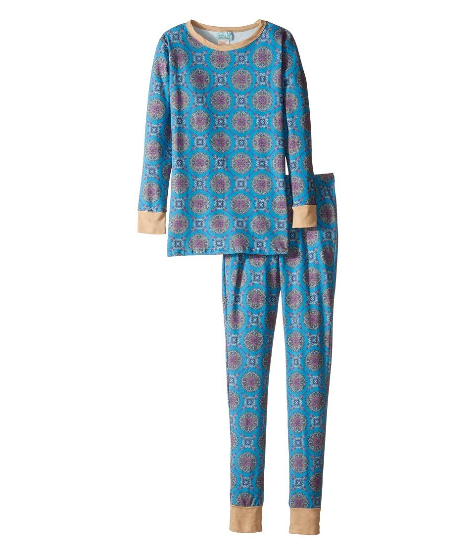 BedHead Kids - Long Sleeve Long Pants Tweens Set (Big Kids) (Blue Road to Morocco) Boy's Pajama Sets