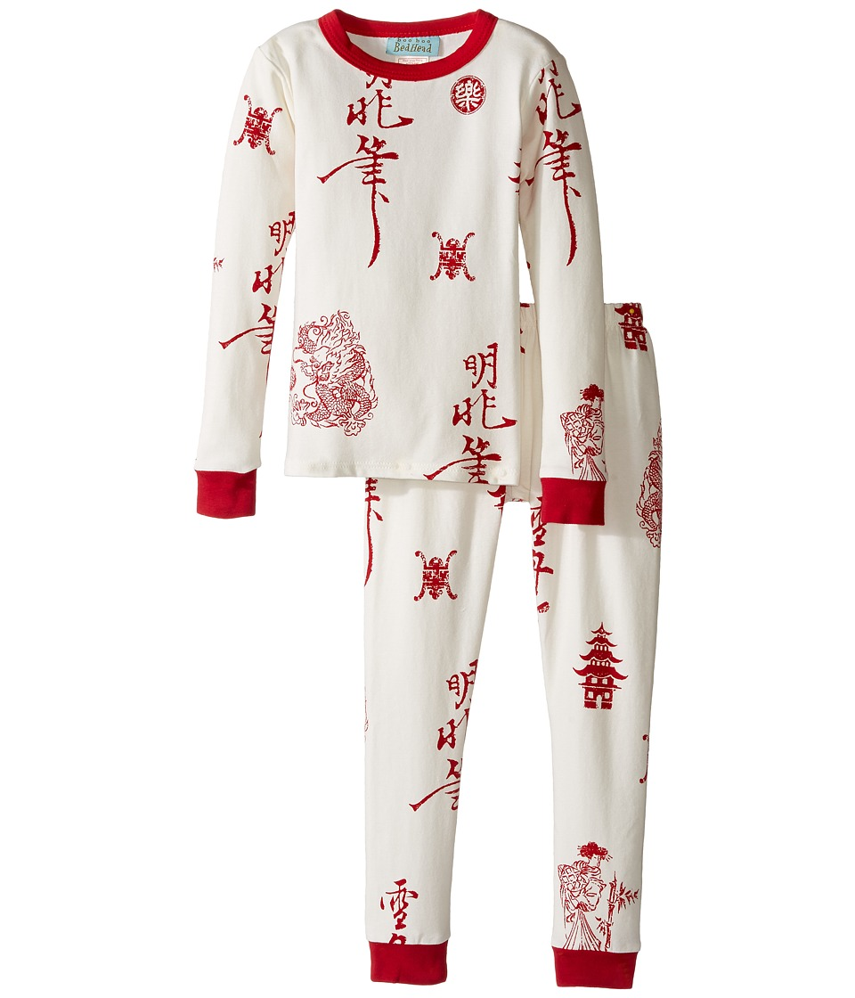 BedHead Kids - Long Sleeve Long Pants Set (Toddler/Little Kids) (Geisha House) Girl's Pajama Sets