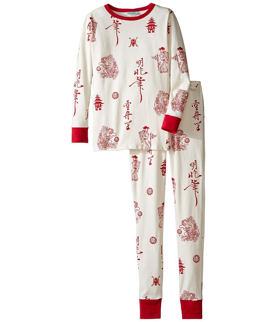 BedHead Kids - Long Sleeve Long Pants Tweens Set (Big Kids) (Geisha House) Girl's Pajama Sets