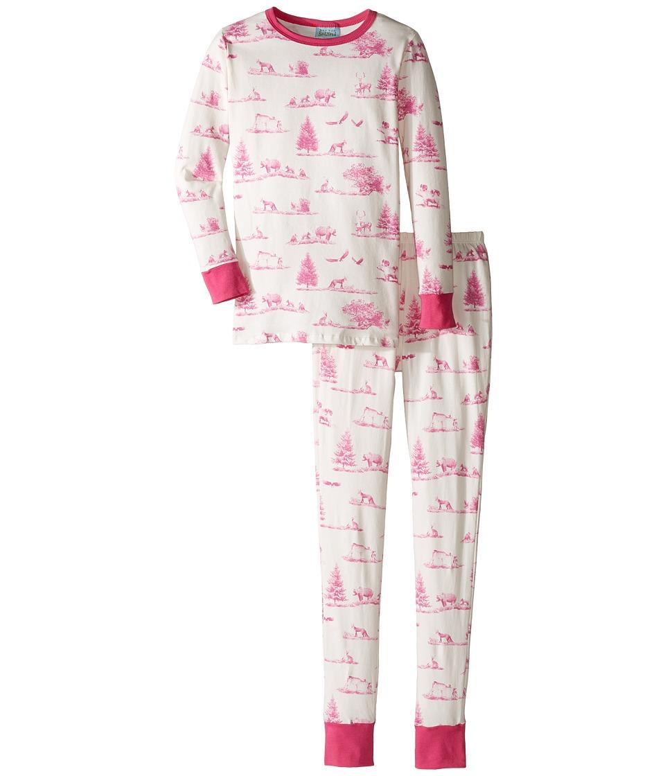 BedHead Kids - Long Sleeve Long Pants Tweens Set (Big Kids) (Pink American Safari) Girl's Pajama Sets