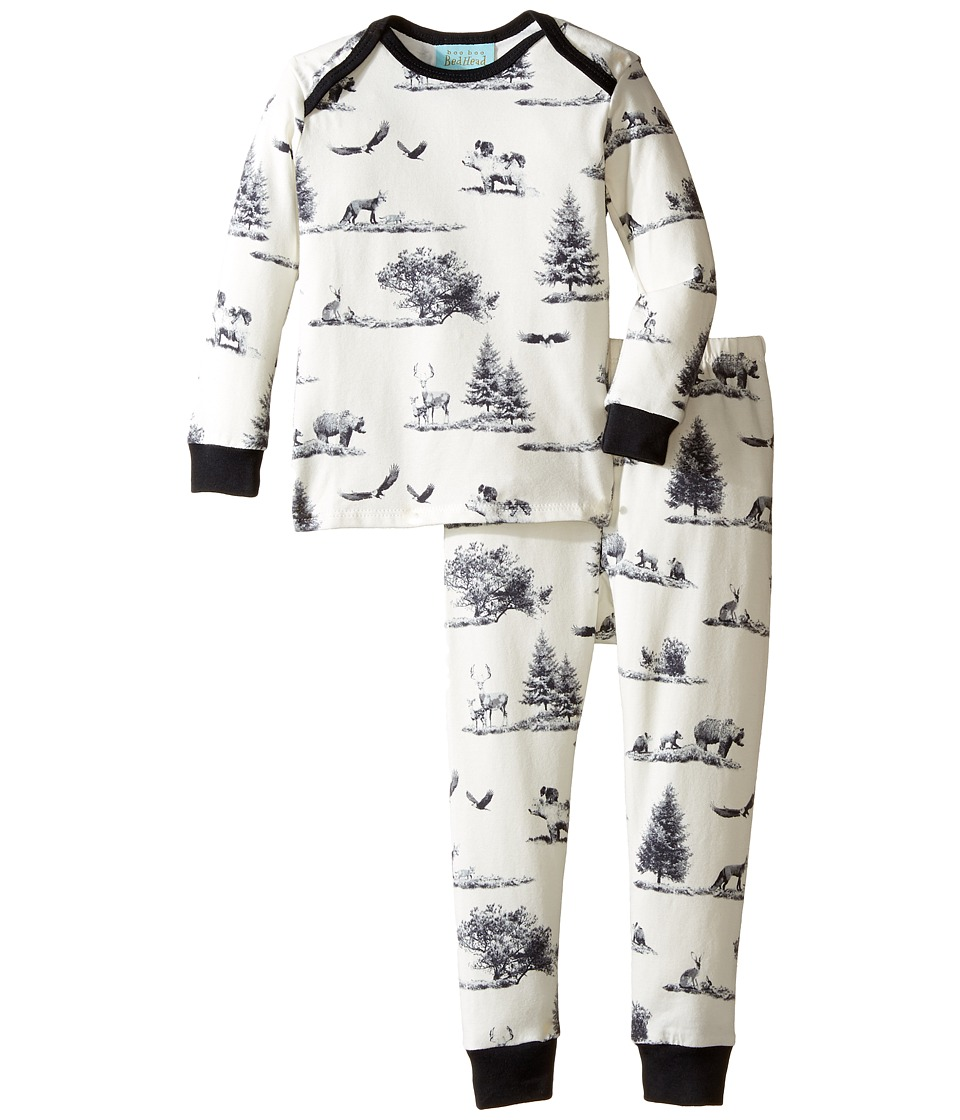 BedHead Kids - Long Sleeve Long Pants Set (Infant) (Gray American Safari) Boy's Pajama Sets